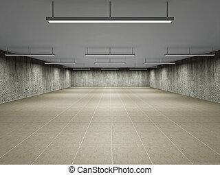 Empty big hall