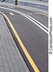 Empty bike lane