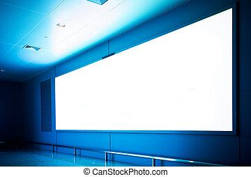 empty billboard - emtpty billboard in the walkway at...