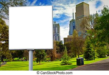 billboard - empty billboard in the park