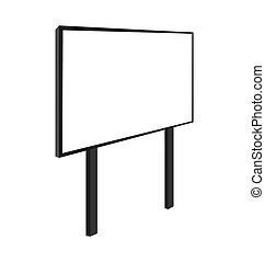 Empty billboard isolated on white background - vector