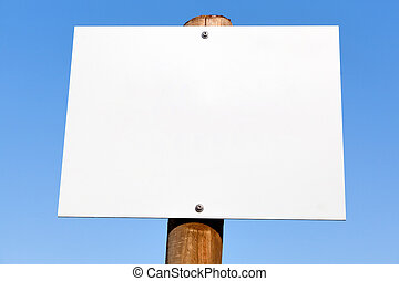 Empty billboard on blue sky, background