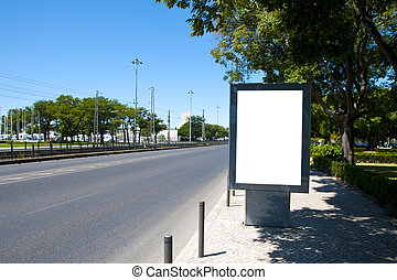 Empty billboard for your ad near a road