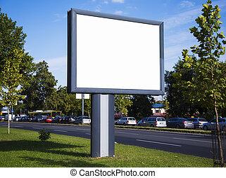 Empty billboard