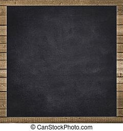 empty black chalkboard