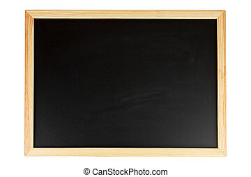 Empty black chalkboard - A empty black chalkboard isolated...