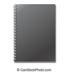 Empty Black Notebook Template