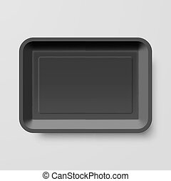 Plastic Food Container - Empty Black Plastic Food Container...