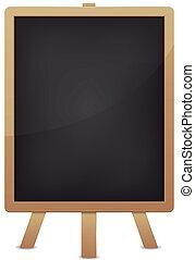 Empty Blackboard For Advertisement - Illustration of a blank...