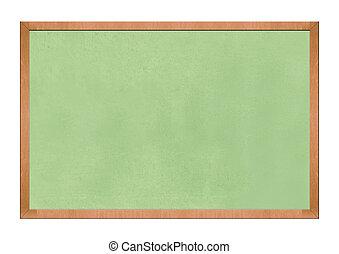 Empty Blackboard isolated on white