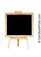 Empty blackboard isolated on white.
