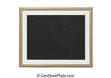 empty blackboard with frame