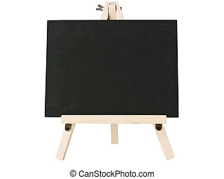 empty blackboard with tripod wooden - empty blackboard with...