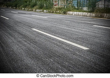 empty blacktop