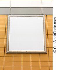 Empty blank advertising billboard