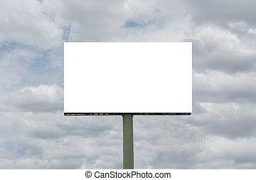 empty blank billboard