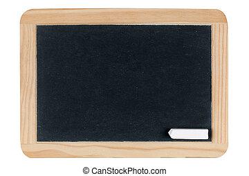 Empty blank black chalkboard