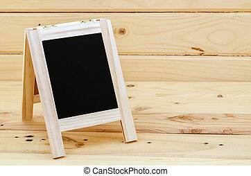 Empty blank black chalkboard.