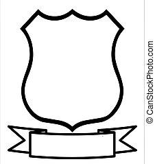 Empty Blank Emblem Badge Shield Logo Insignia Coat of Arms