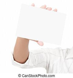 Empty blank sign