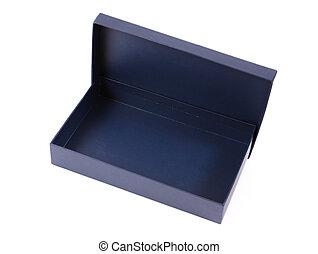 Empty blue box isolated