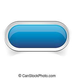 Empty blue button vector