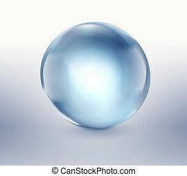 empty blue glass ball