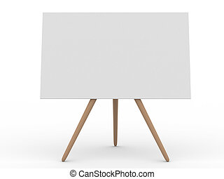 Empty board on white. Isolated 3d image