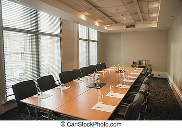 Empty Board Room for a Meeting