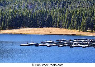 Empty boat dock