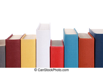 Empty book spines with lots of copyspace for your own text