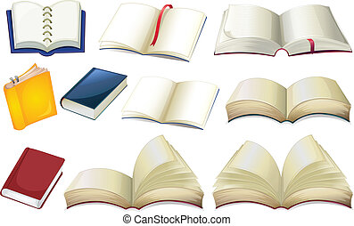 Empty books - Illustration of the empty books on a white...