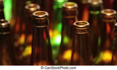 empty bottles, the top view, small depth of sharpness
