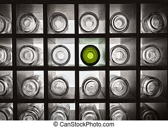 Empty bottles with backlight