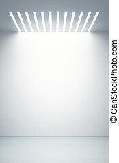empty boutique showcase, 3d render