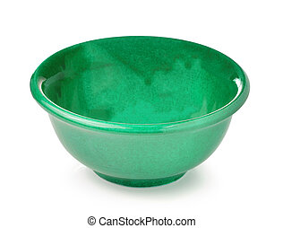 Empty bowl isolated on a white background