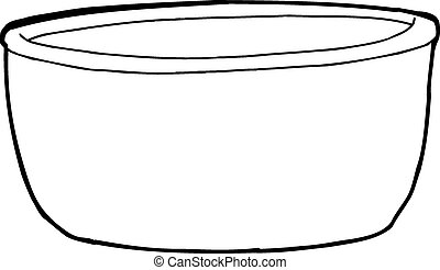 Empty Bowl Outline