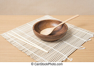 empty bowl with chopstick