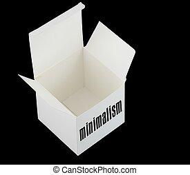 Empty box of minimalism - Minimalism concept: Empty white...