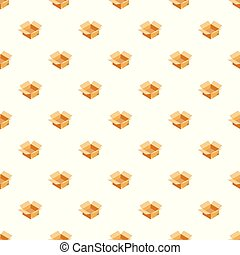 Empty box pattern seamless vector