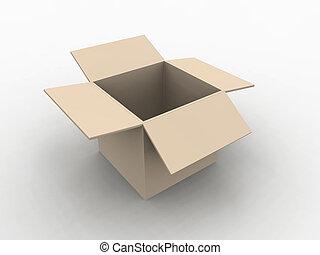 Empty Box - 3D illustration.