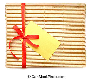 empty box with red ribbon