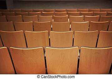 Empty brown chairs