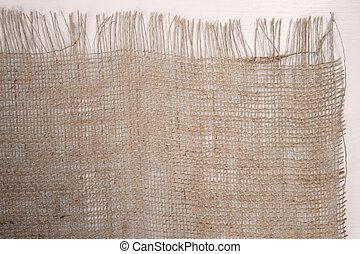 Empty brown napkin on wooden kitchen table