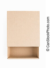 empty brown paper box isolated