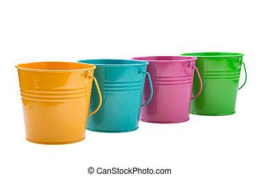 empty bucket isolated on white background