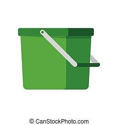 Empty bucket vector illustration icon