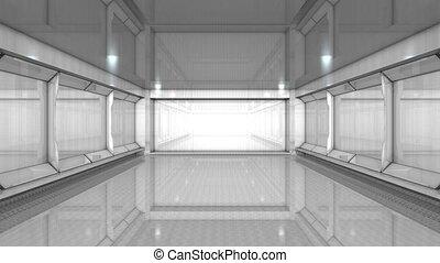 Empty building interior
