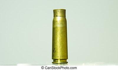Empty Bullet Shell Rotating