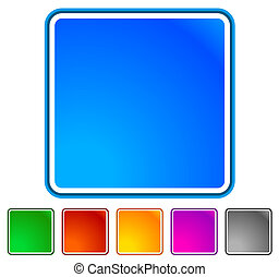 Empty button, icon background in 6 colors